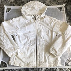 Eddie Bauer Zip Up Jacket/Coat White